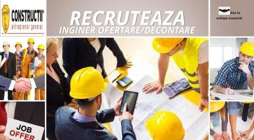INGINER OFERTARE/DECONTARE